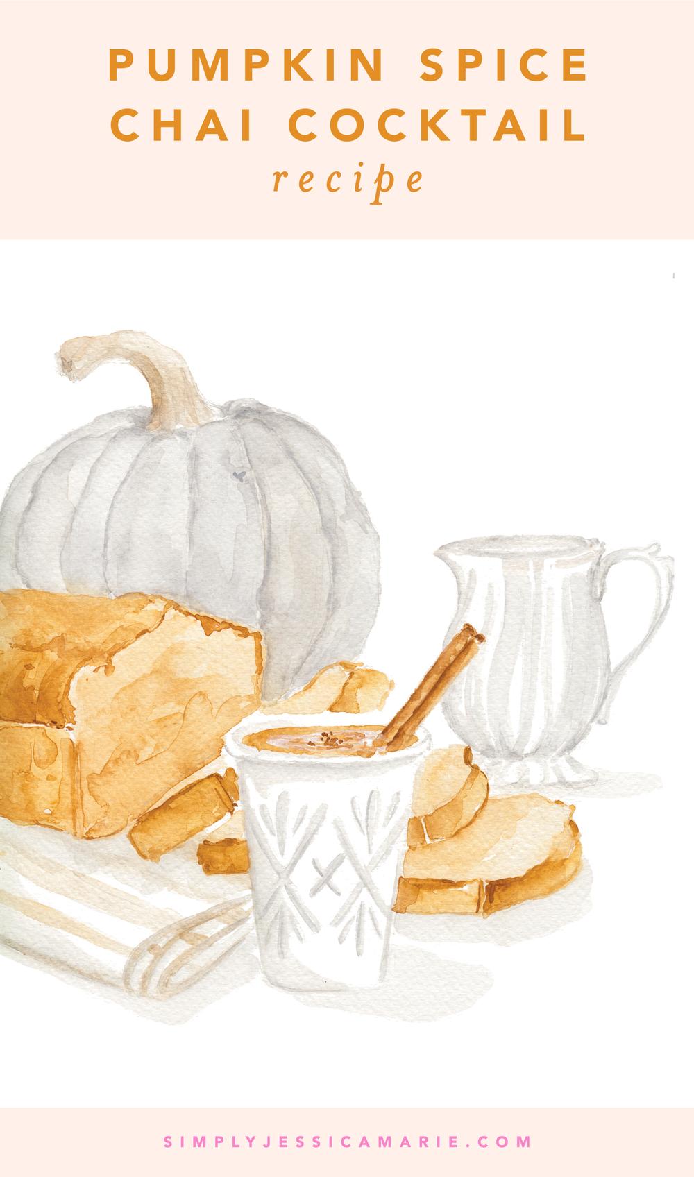 Pumpkin Spice Chai Latte Cocktail Recipe by Simply Jessica Marie