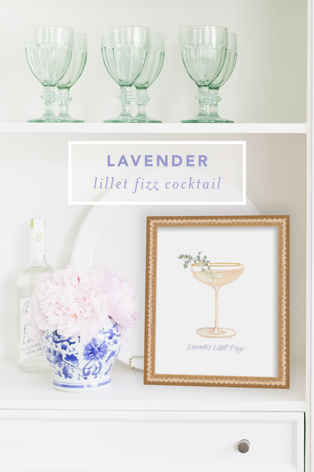 Lavender Lillet Fizz Cocktail Recipe by Simply Jessica Marie | SC Stockshop Photo