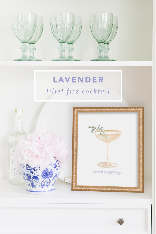 Lavender Lillet Fizz Cocktail Recipe by Simply Jessica Marie | SC Stockshop Photo