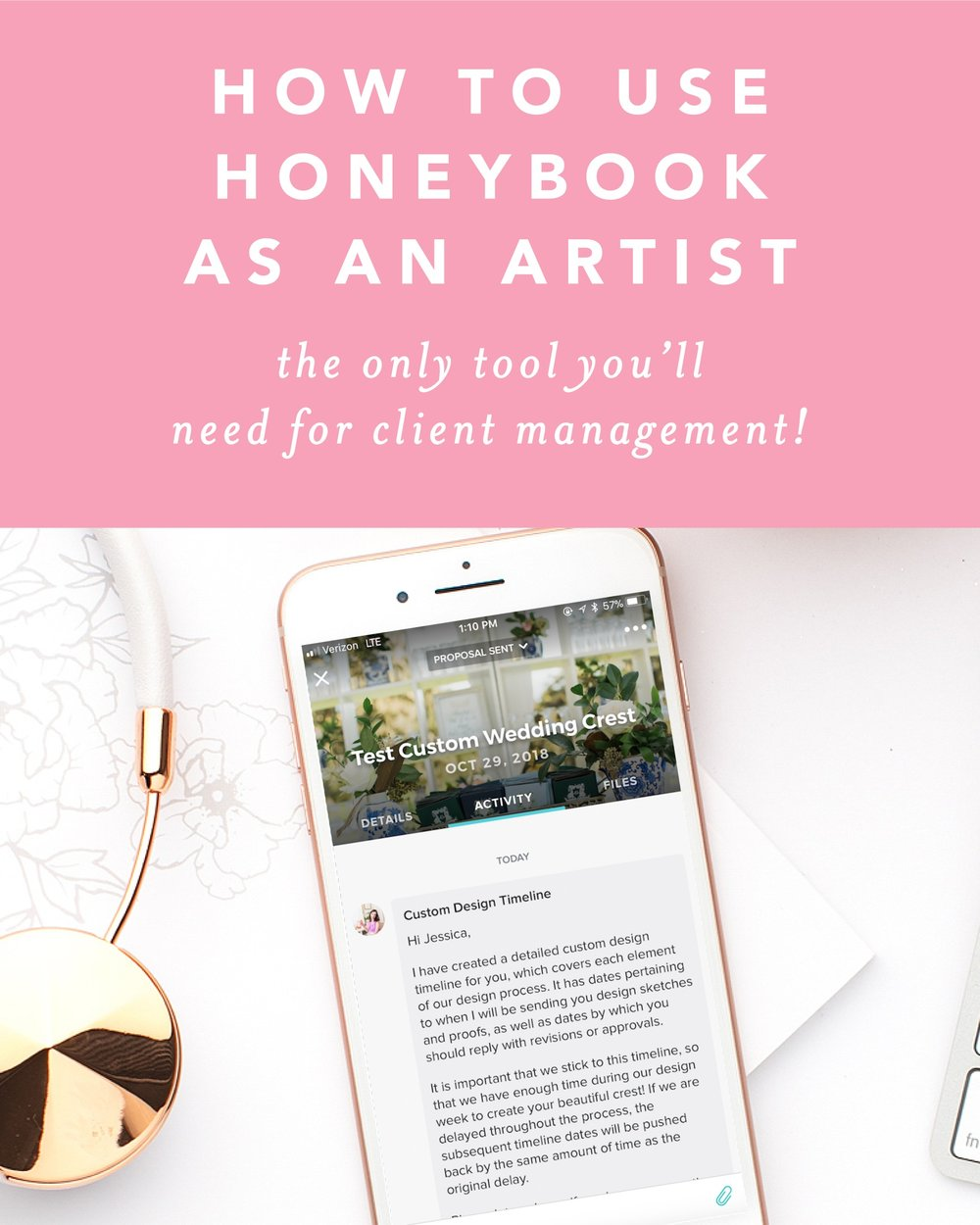How to use HoneyBook as an artist by Simply Jessica Marie