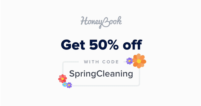 Get 50% Off HoneyBook