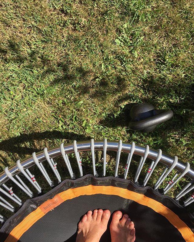 Yesterday's favorite workout. #jump #kettlebell #xtrain #fieldnotes / #rhodeisland