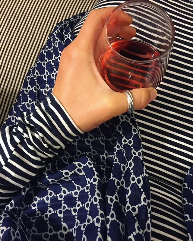 Have some pattern with your rosé ➖#stripes #design #vino #fieldnotes / #maine