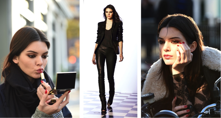Another big moment of Kendall was becoming the new face of Estée Lauder.