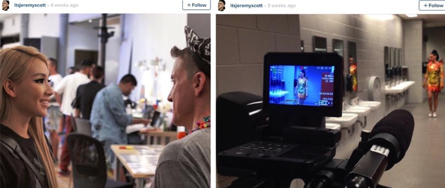 Alguno de los trascámara del documental que ha posteado el diseñador en su cuenta de Instagram.