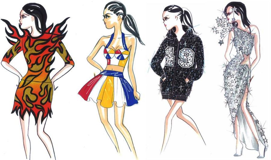 Los diseños que hizo para la presentación de Katy Perry en el medio tiempo del Super Bowl