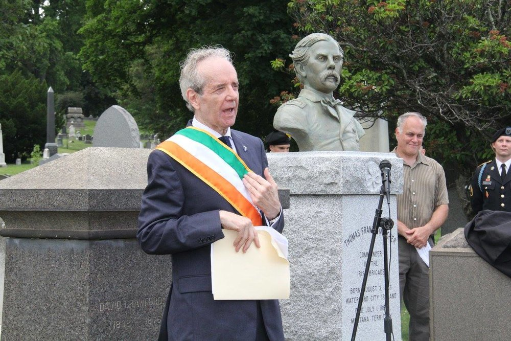 General Thomas Francis Meagher MONUMENT unveiling- President Peter McKay