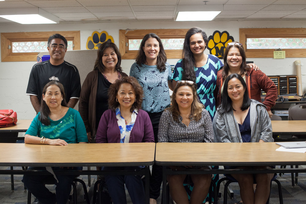 EMERGE Council: Top- Kyle Miyashiro (Pearl City High School), Doreen Dudoit (Roosevelt High School), Katie Chang ( CTL), Lahela Manning (CTL), April Nakamura (McKinley High School), Bottom- Janice Uemori (Waianae High School), Cleo Eubanks (Sacred Hearts Academy), Jackie Breeden (CTL parent), Jennifer Agena (McKinley High School). Not Pictured: Fern White (Kohala High School), Joy Matsuura (CTL), Joan Lewis (Kapolei High School), Erin Conner (Volunteer), Sheri Hanoa (Kailua High School), Lisa Panquites (McKinley High School), Ben_Yamashiro (Pearl City High School), Ava Limoz (Pearl City High School), Jennifer Bauer (Maryknoll School), Jen May Pastores (CTL).