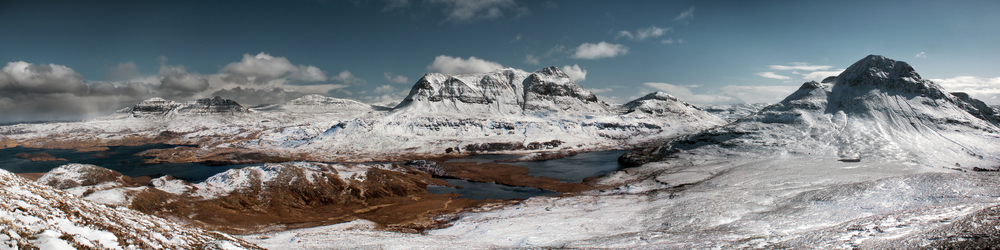 The landscape of Assynt seen from Stac Pollaidh