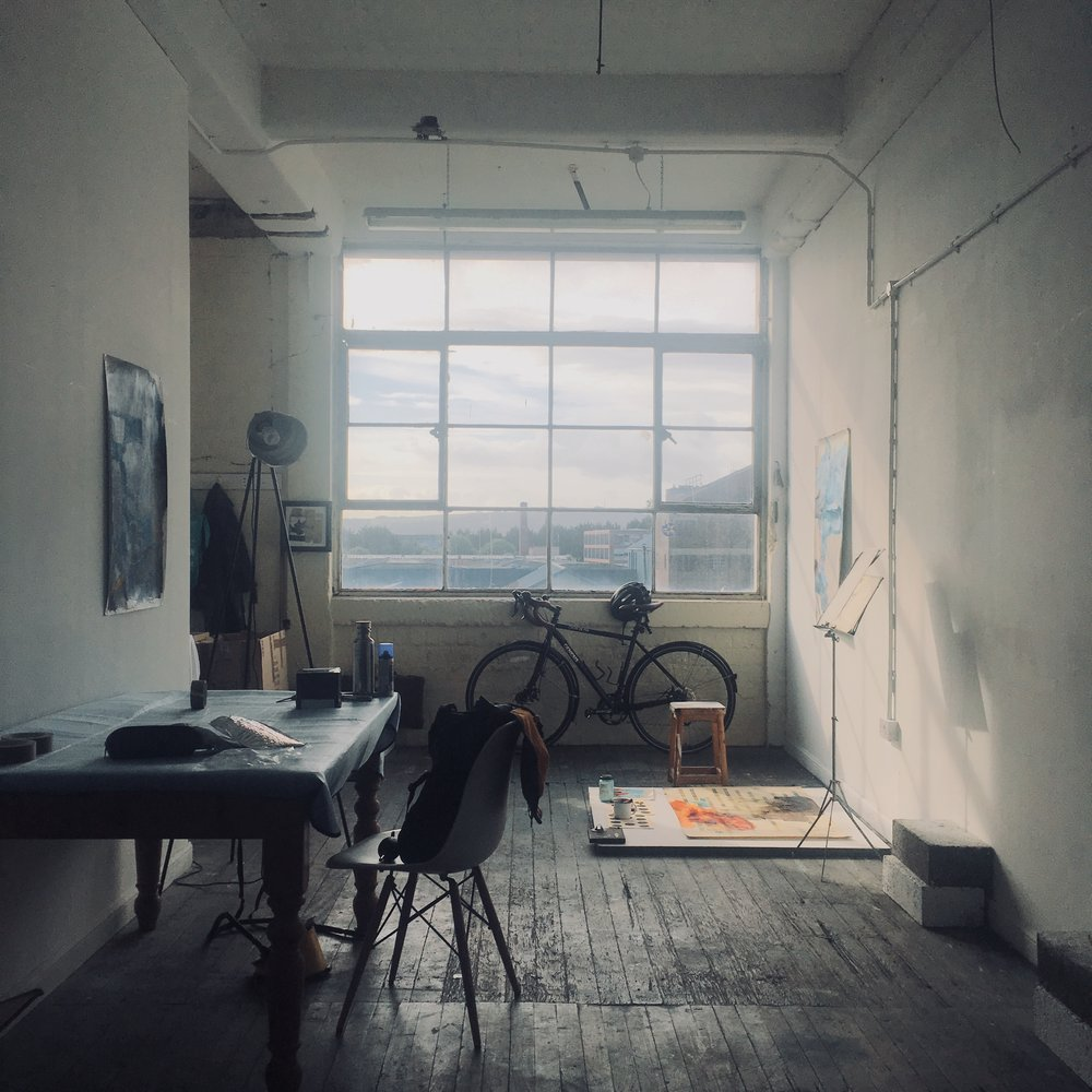 My brothers studio in Glasgow