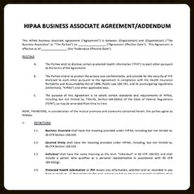 HIPAA Business Associate Agreement Template