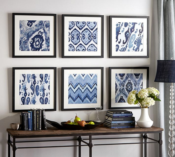 Framed Ikat Prints | Pottery Barn