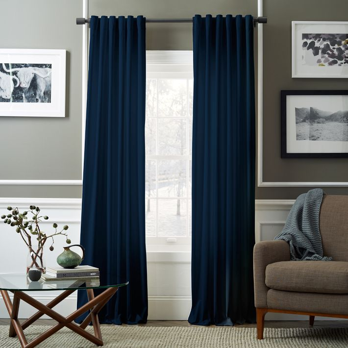 Velvet Pole Pocket Curtain | West Elm