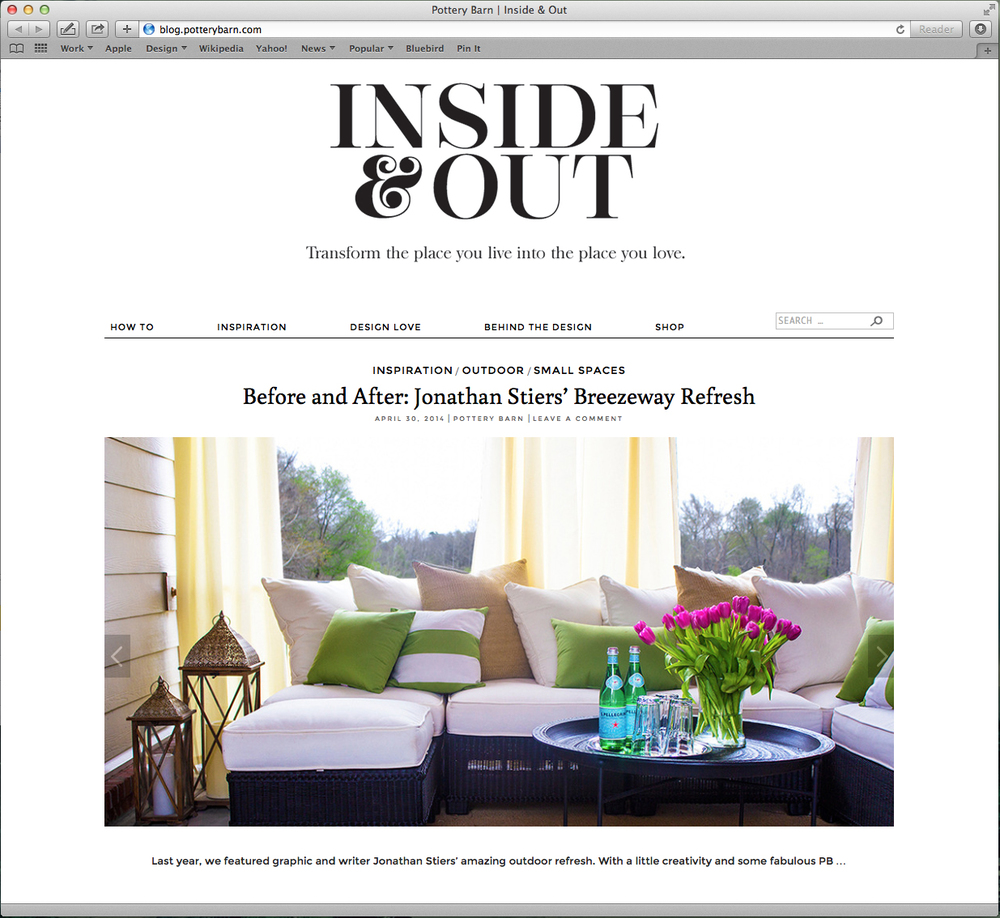Pottery Barn - Blog Feature