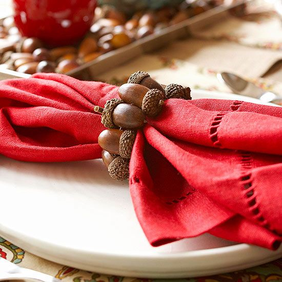 Red Linen Hemstitch Napkins - Williams-Sonoma