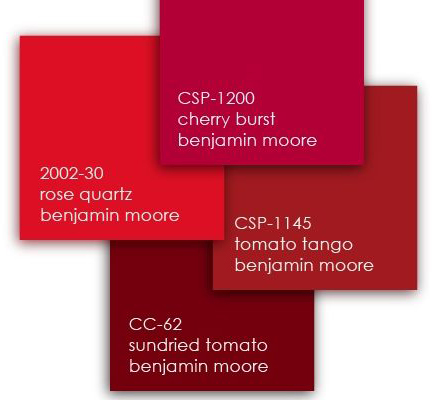 Benjamin Moore Reds