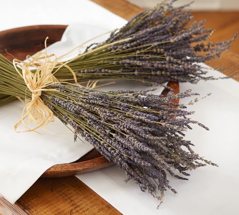 Dried lavender bunches - Pottery Barn (Scroll down, below wreath)