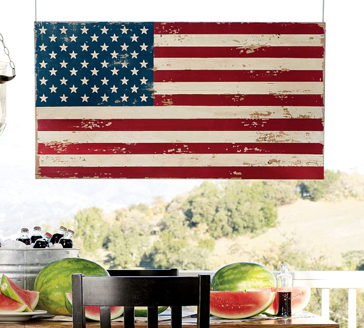 Painted American Flag - Pottery Barn