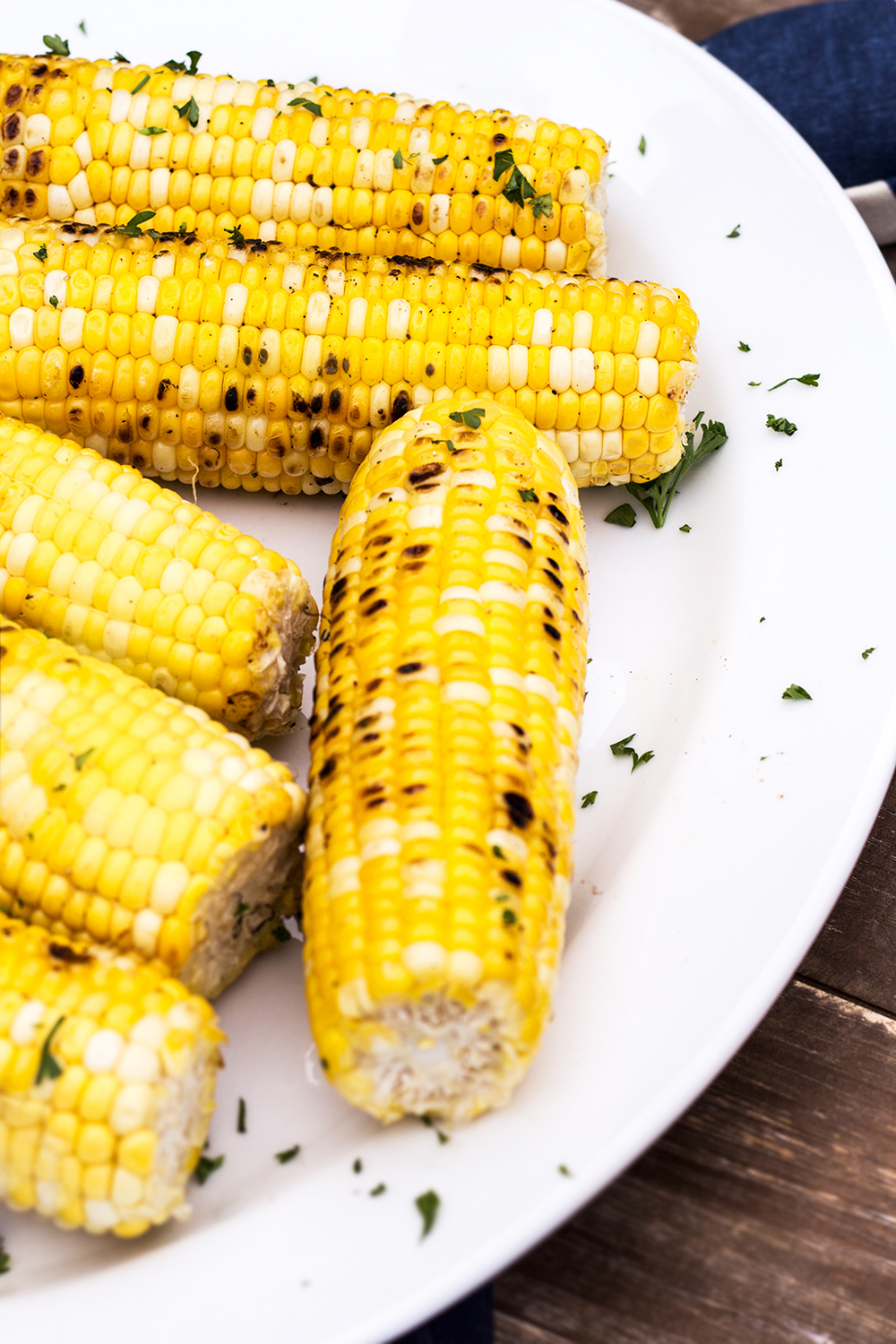 Grilled Corn with Honey Butter