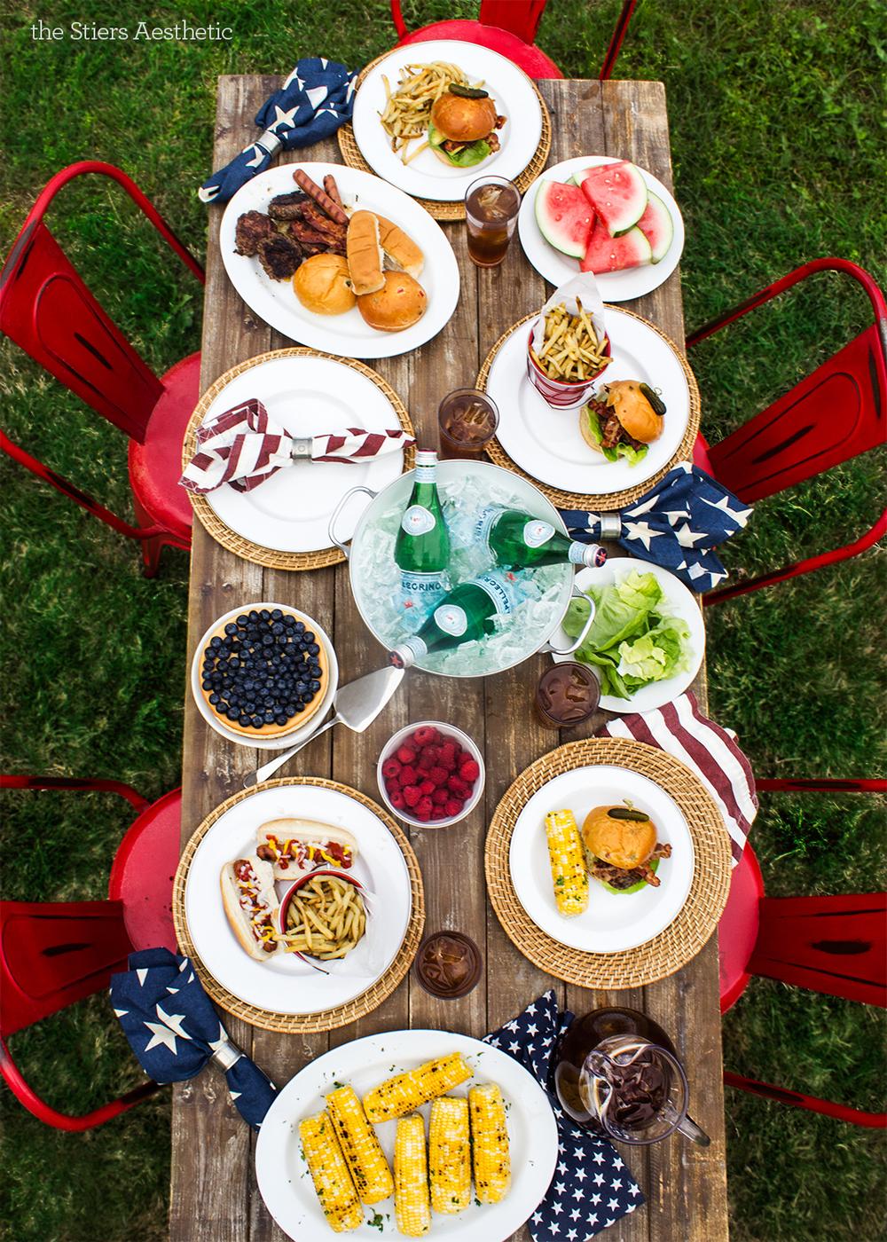 Patriotic Table Setting
