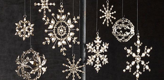 Victorian Glass Snowflake Ornaments