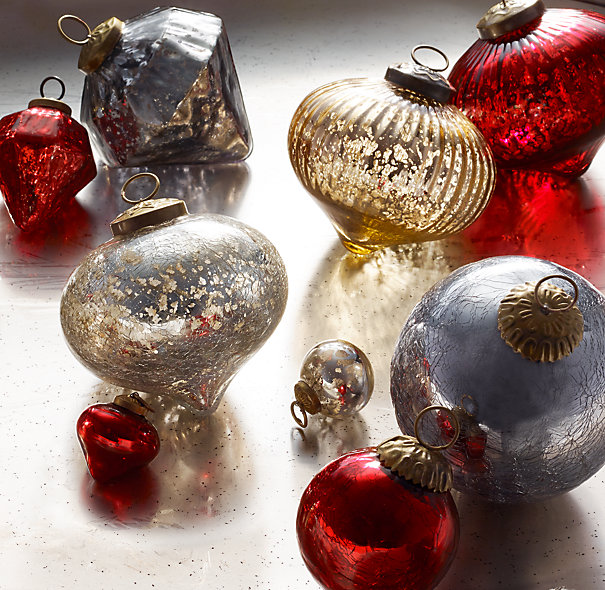 Vintage Handblown Glass Ornaments