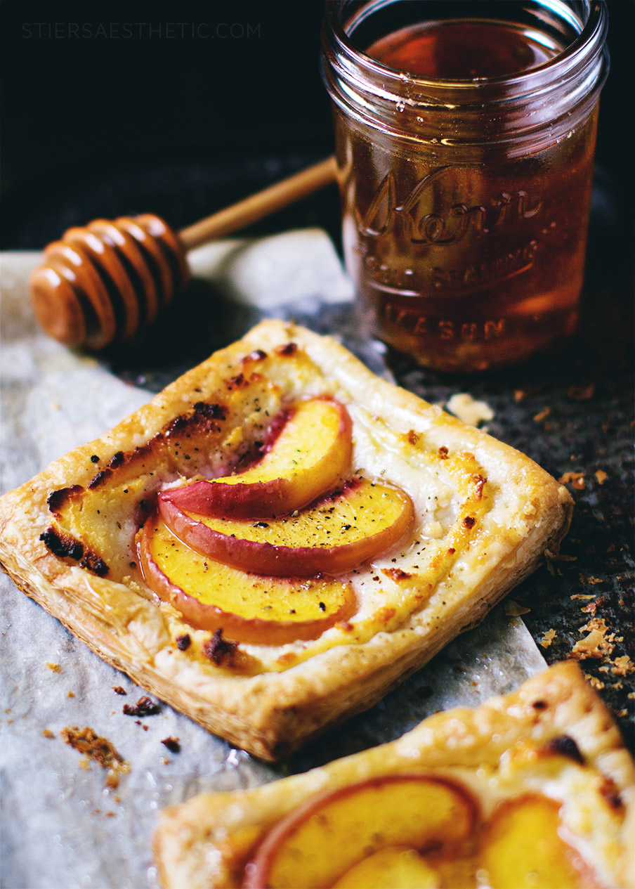 Peach & Goat Cheese Tart with Honey
