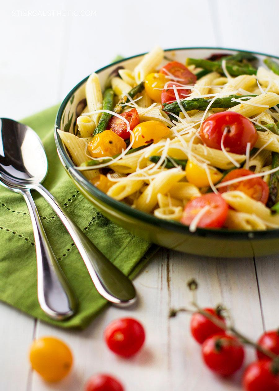 Tomato & Asparagus Carbonara — The Stiers Aesthetic
