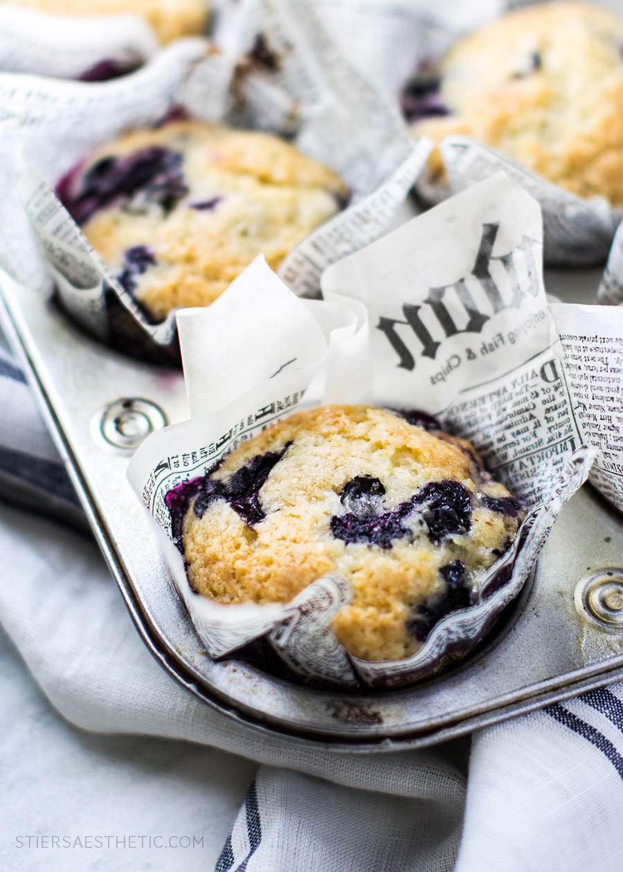 Blueberry Muffins - The Stiers Aesthetic