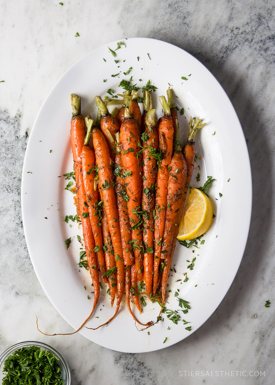 Maple-Glazed Carrots - The Stiers Aesthetic