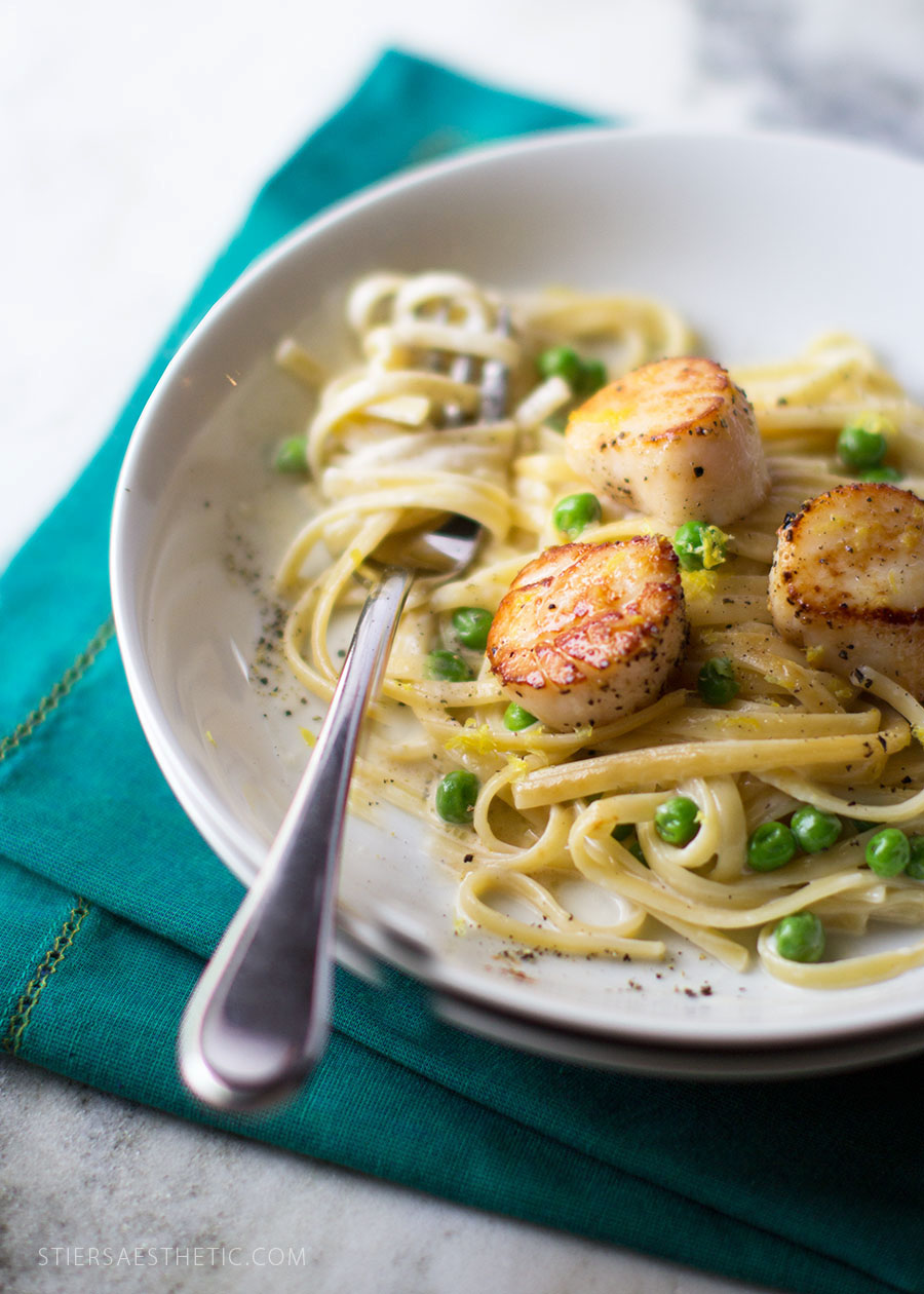 Seared Scallops & Linguini
