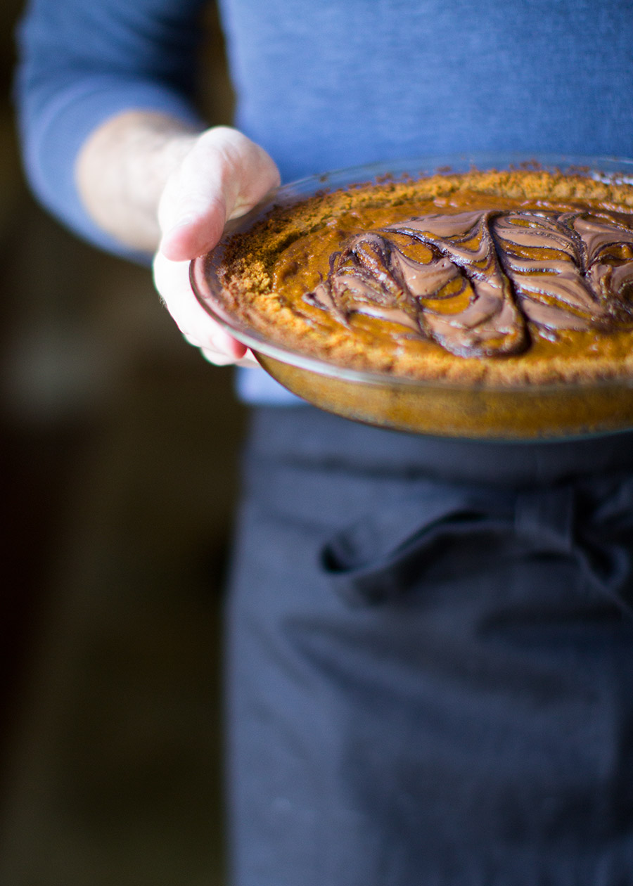 Nutella Pumpking Swirl Pie