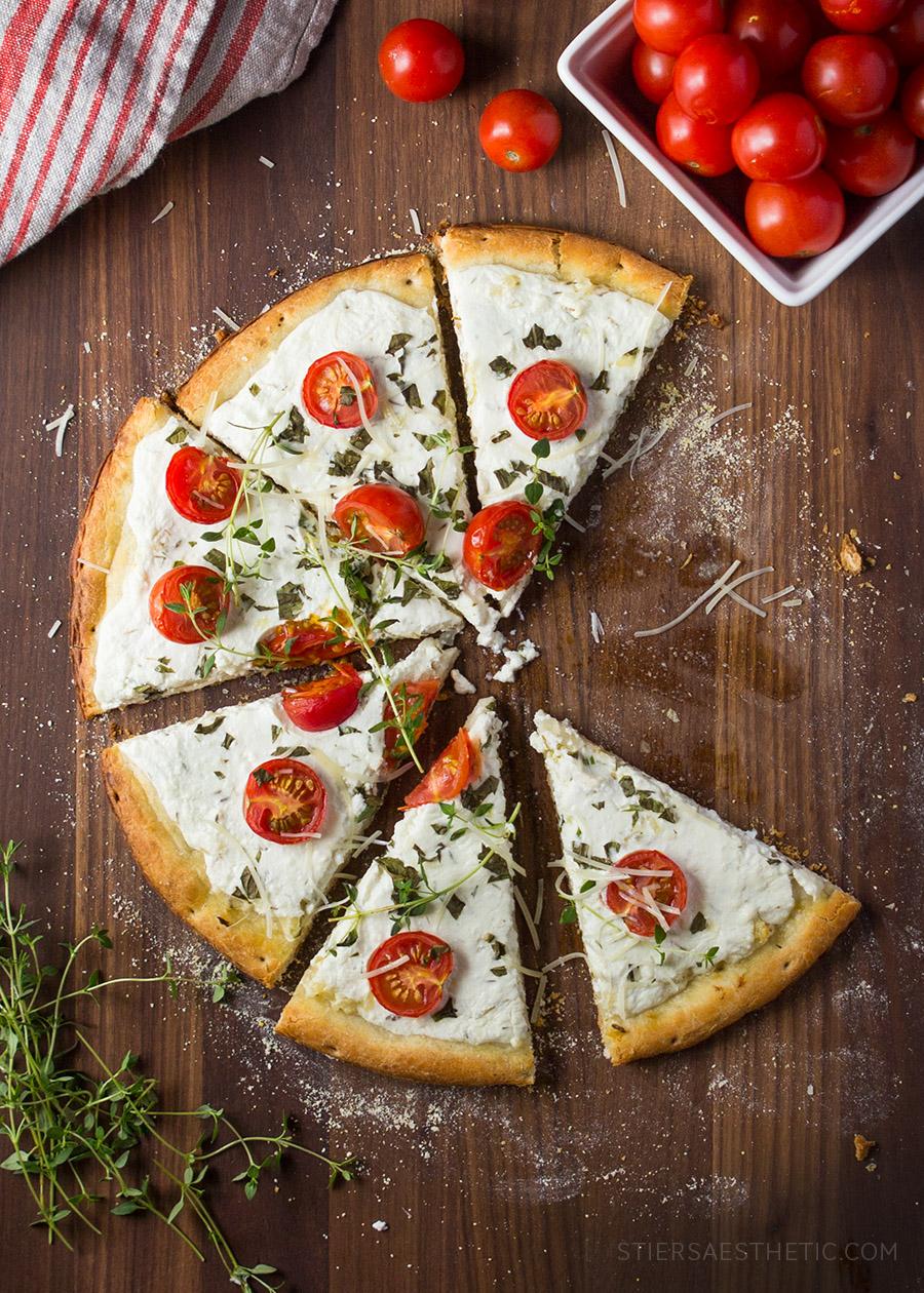 Tomato Basil Amp Ricotta Pizza Jonathan Stiers