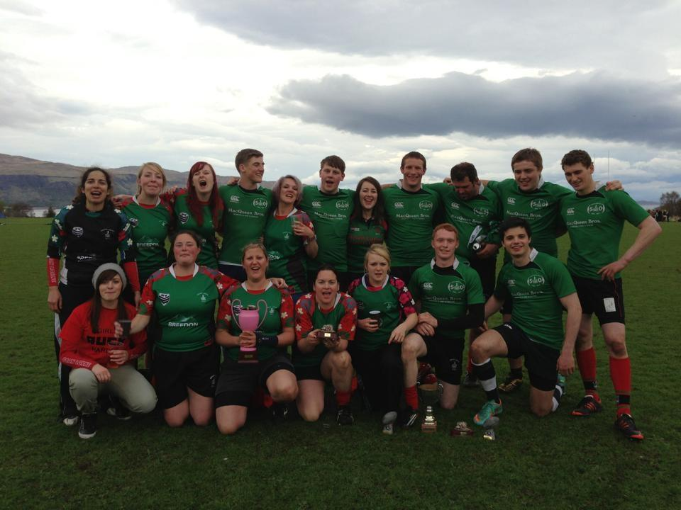 Oban's Mens and Womens winning Mulls 7s