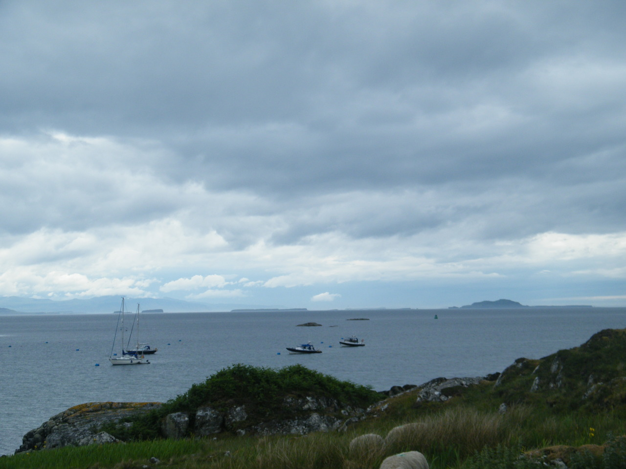 View from Coll looking over to the Treshnish Islands and Staffa