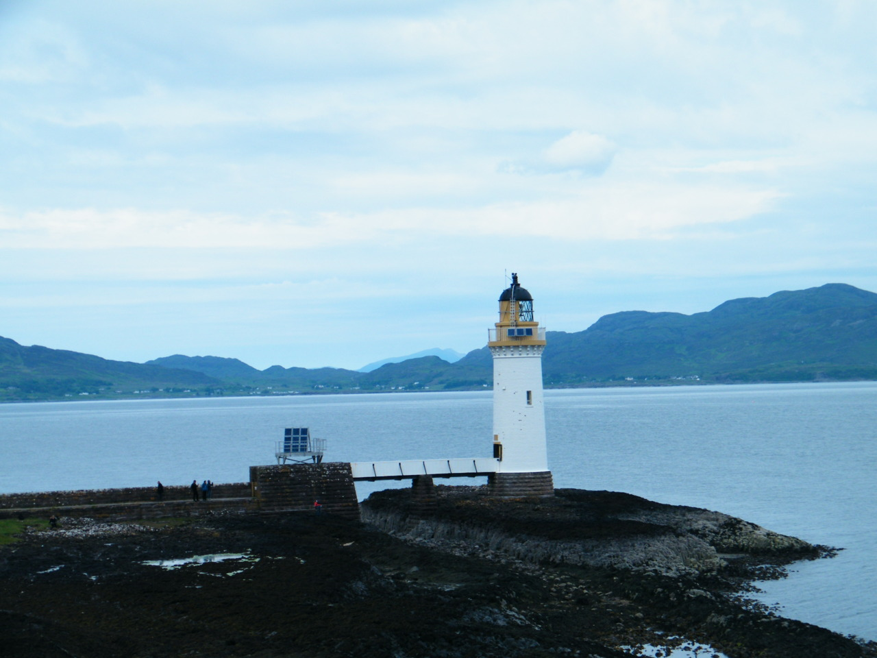 Rubha Nan Gall Lighthouse with Rum in the far distance