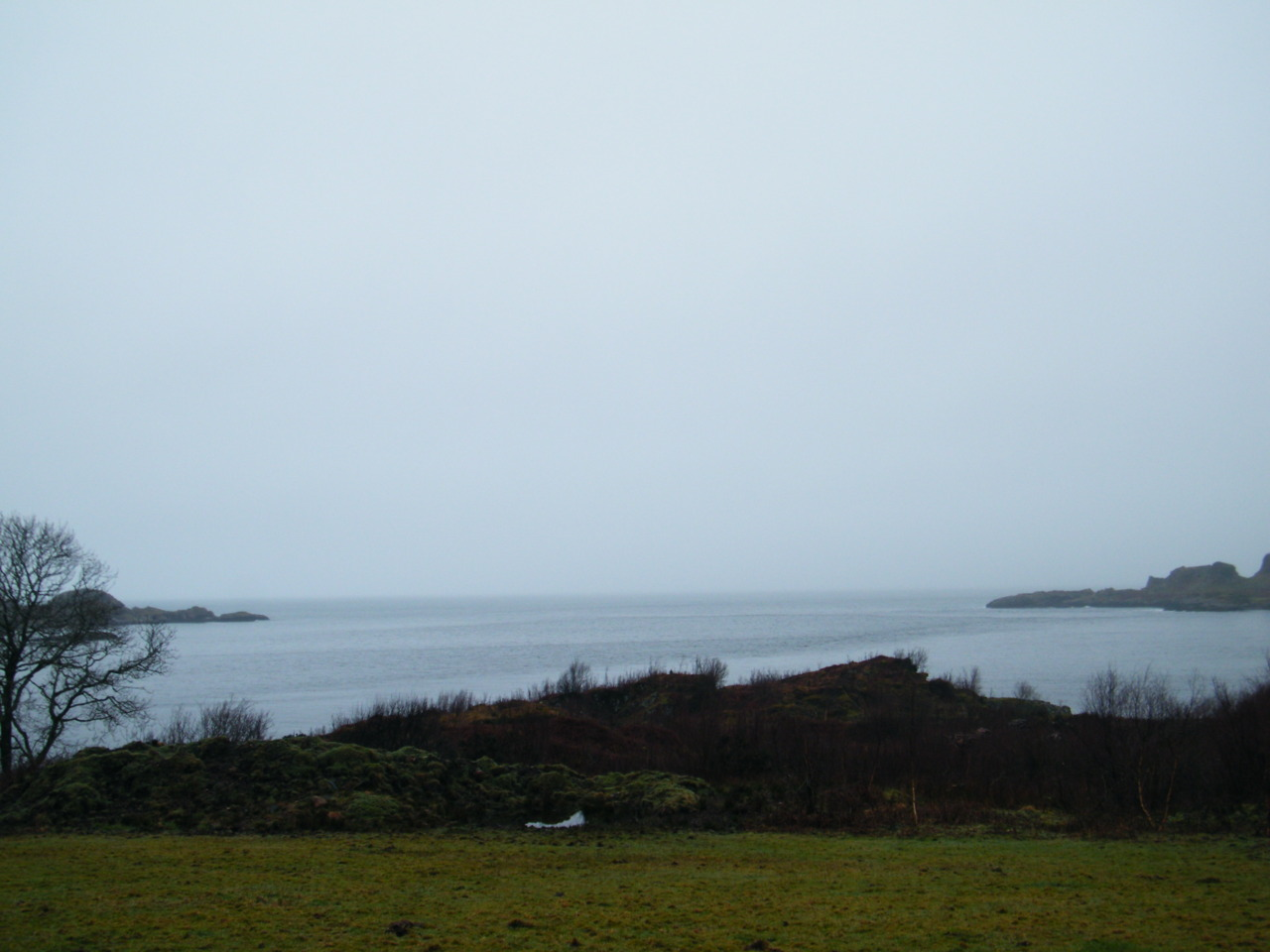 Poor Visibility, usually you could see the Island of Mull clearly