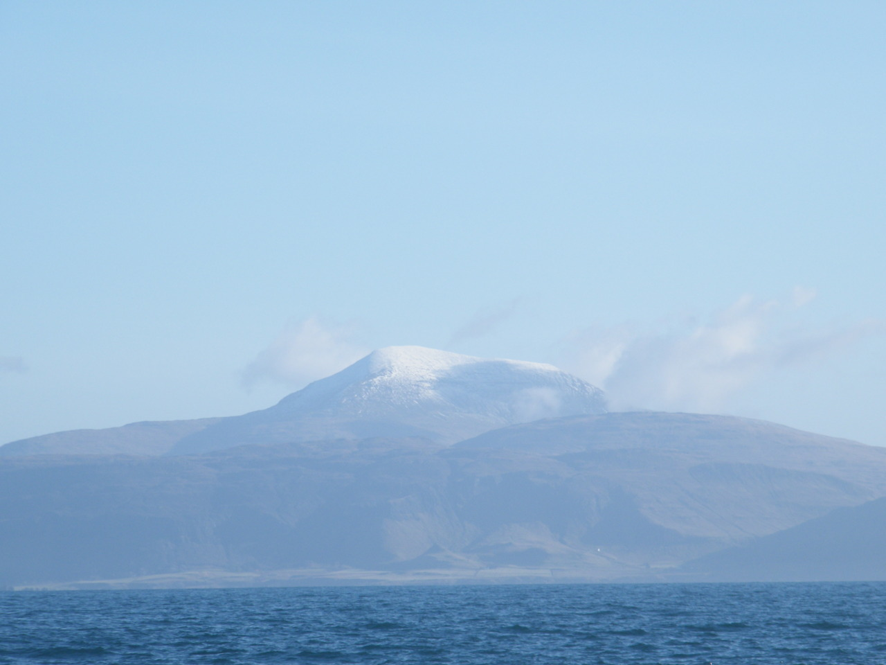 Snow covered Ben More Mountain, taken from the West