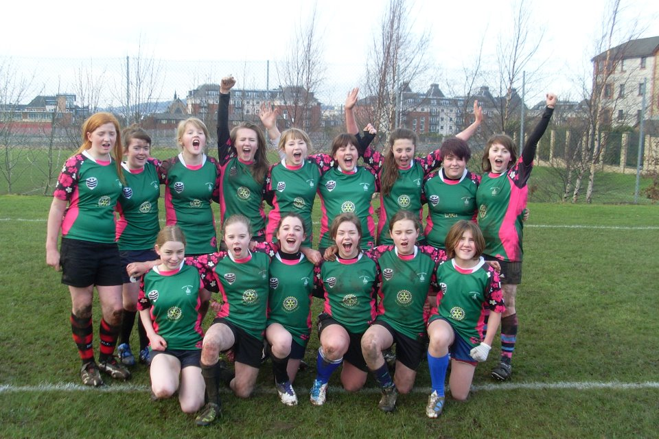 Under 15 Argyll & Bute girls rugby team