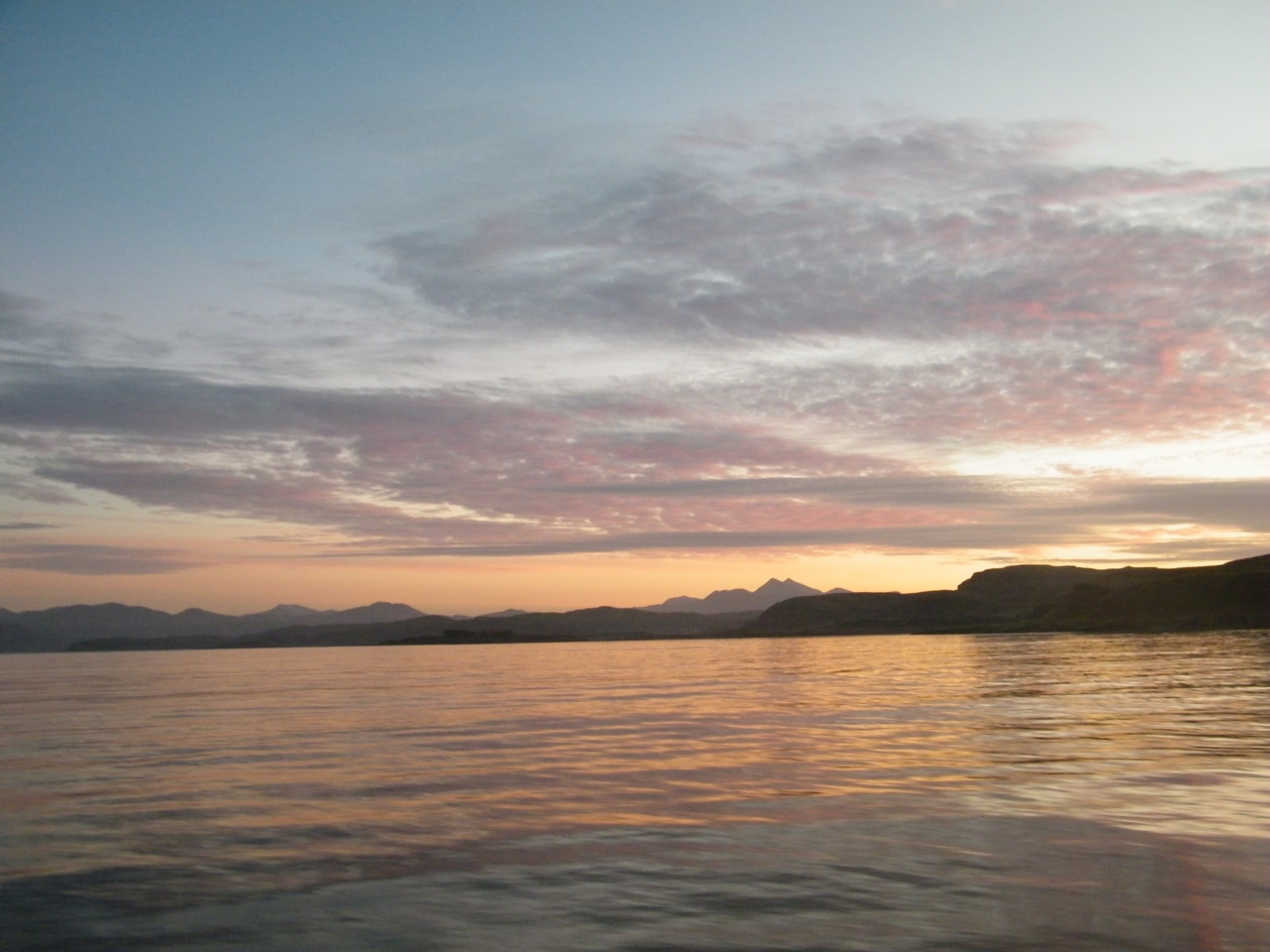 Sunrise over Argyll