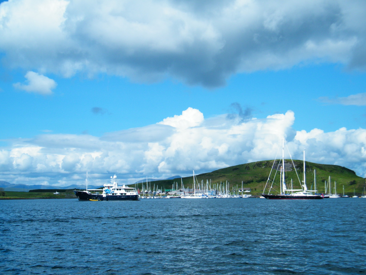 Super Yachts in Oban Bay