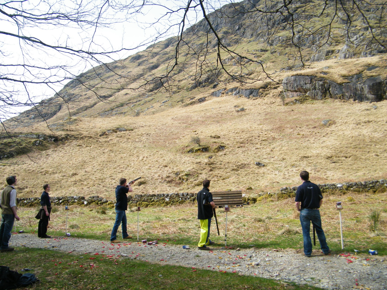 Clay pigeon shooting at Kingairloch Estate