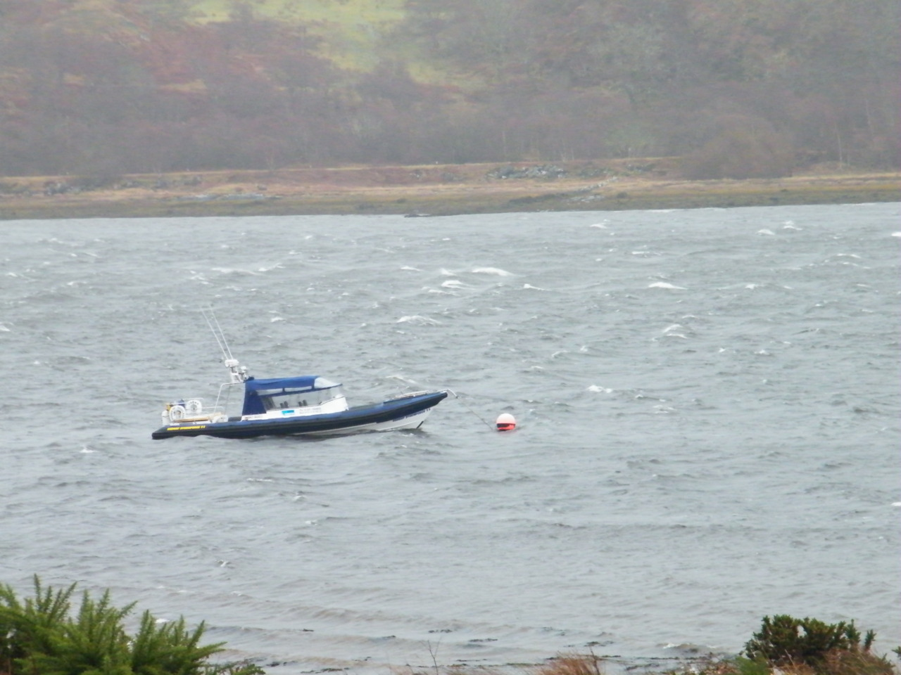 Power of Scotland safely on her mooring in Loch Feochan