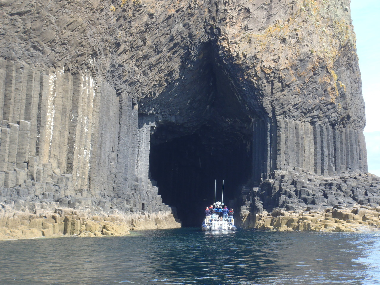 Power of Scotland in Fingals Cave