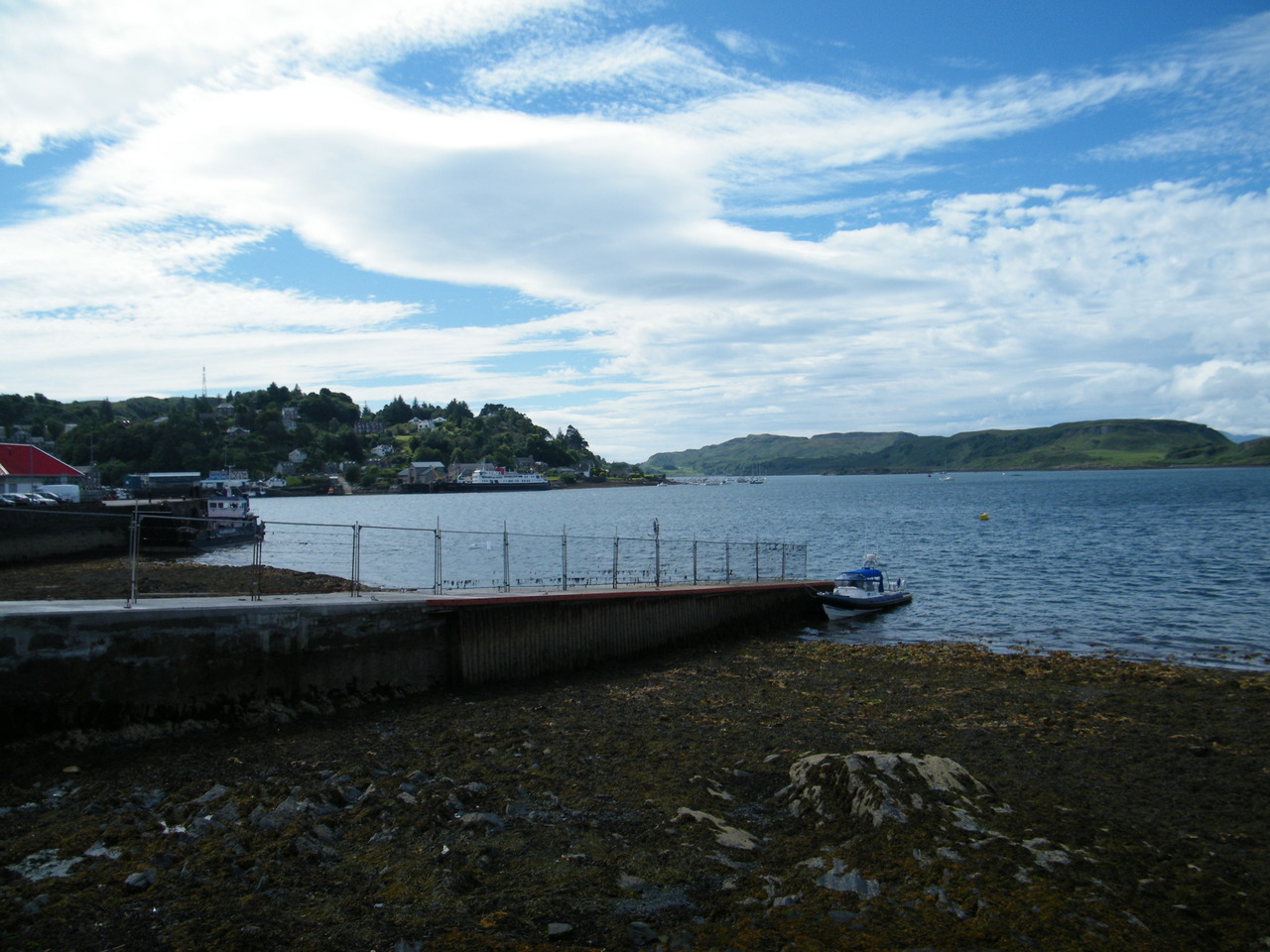 Very low tide at the Oban Times Slip
