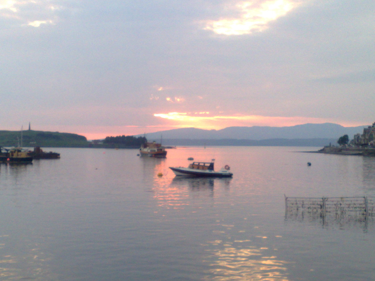 Rannochmor on her mooring in Oban Bay