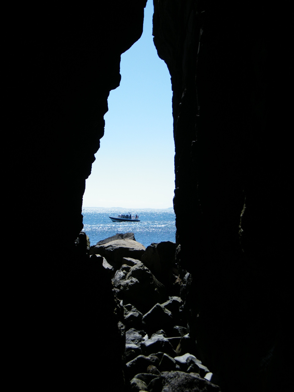 A cave on Lunga