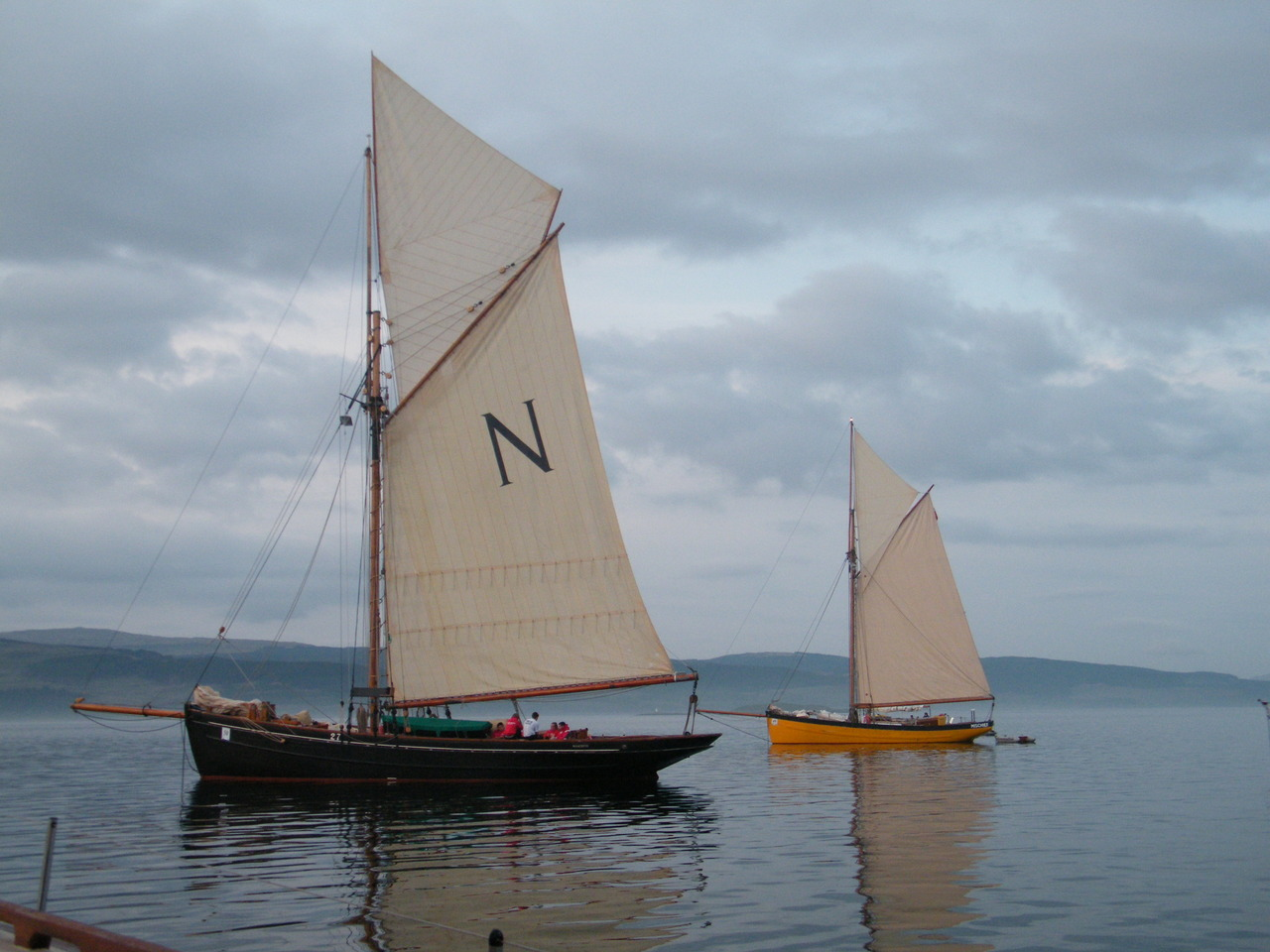 Classic yachts at Salen