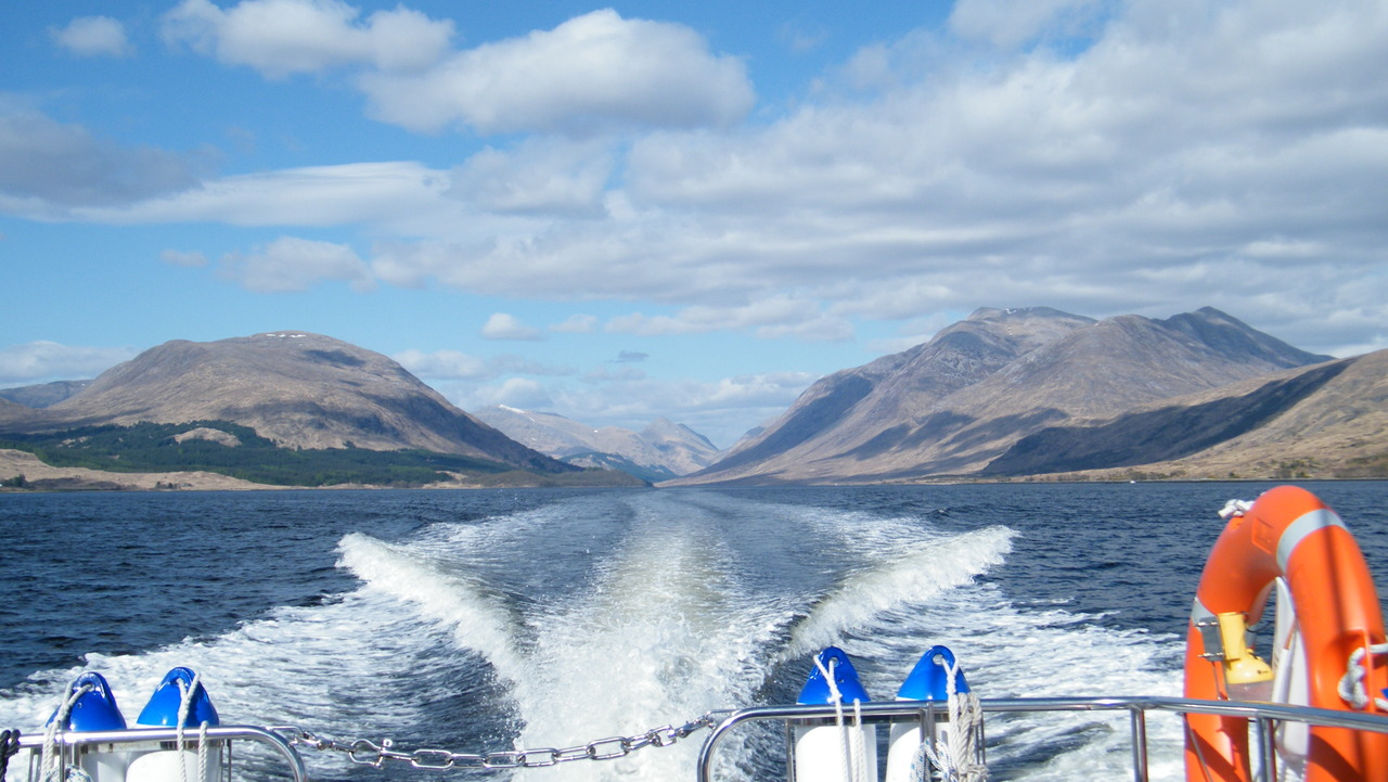 Looking back to the head of Loch Etive