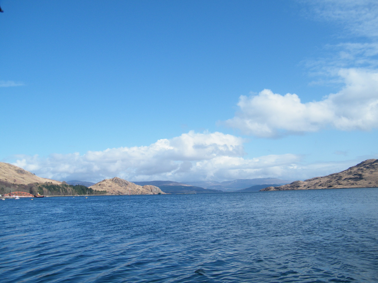 Looking out of Loch A' Choire